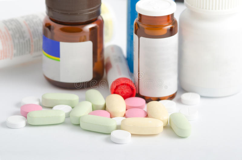 Medicina y farmacia de las píldoras foto de archivo libre de regalías
