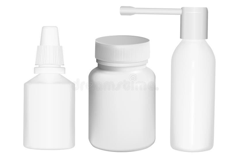 medicinal emballage royaltyfri illustrationer