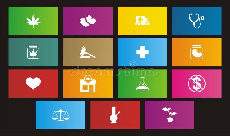 Download Medicinal Marijuana Metro Style Icon Stock Illustration - Image: 32681020