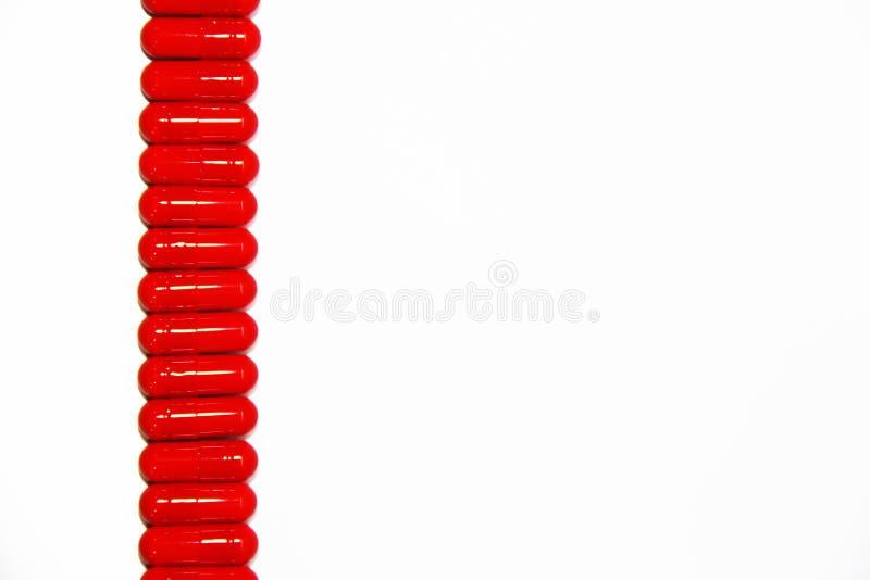 Medicinas Vermelhas Foto de Stock