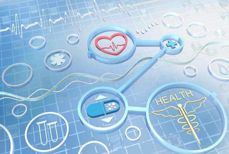 Medicine - abstract background royalty free illustration