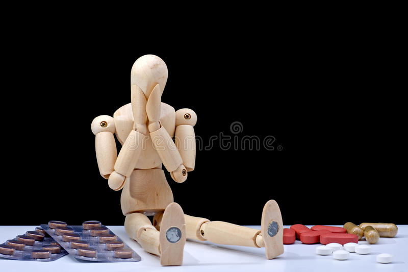 Download Medicine addiction stock image. Image of capsule, mannequin - 14672167