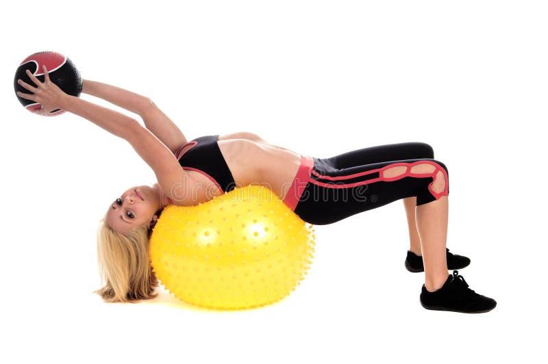 Download Medicine Ball Yoga stock image. Image of woman, girl, body - 1765671