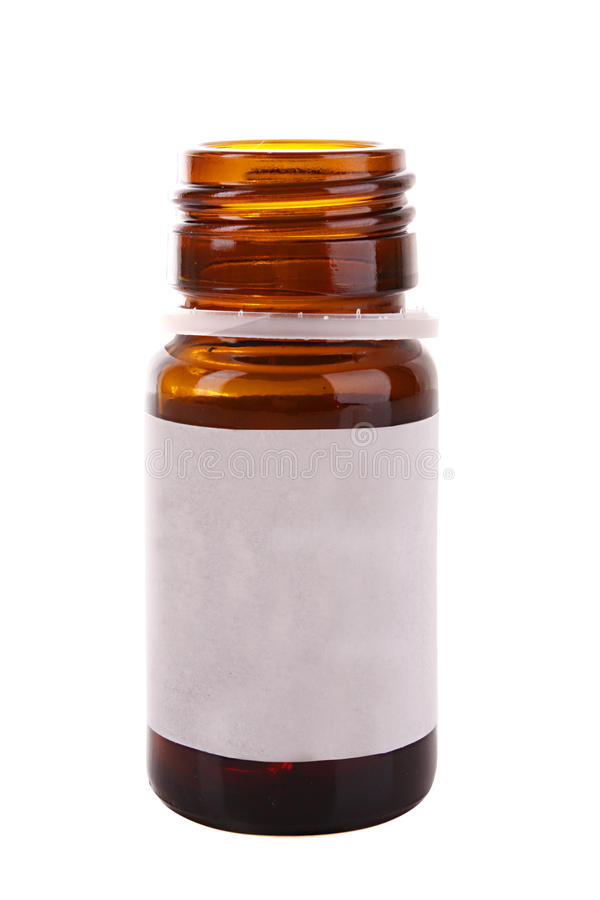 Medicine bottle. Isolate on white royalty free stock photography