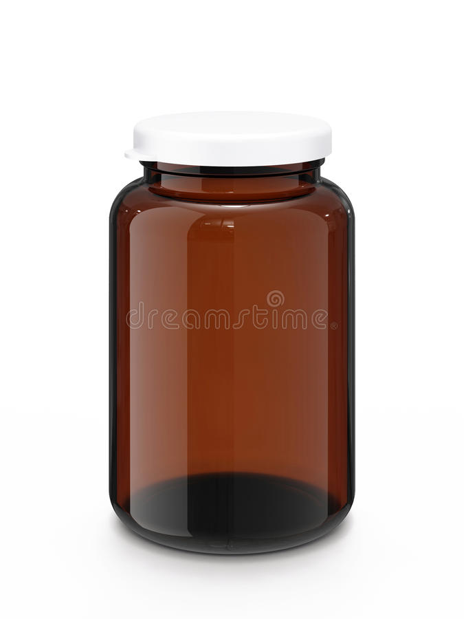 Download Medicine bottle with cap stock illustration. Image of container - 19951829
