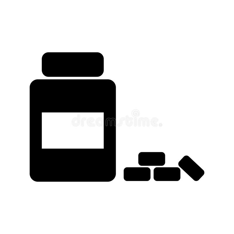 Medicine bottle icon. Doctor element icon. Premium quality graphic design. Signs, outline symbols collection icon for websites, we. B design, mobile app, info royalty free stock images