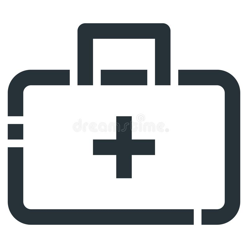 Medicine Case Vector Line Icon 32x32 Pixel Perfect. Editable 2 P. Ixel Stroke Weight. Medical Health Icon for Website Mobile App Presentation vector illustration