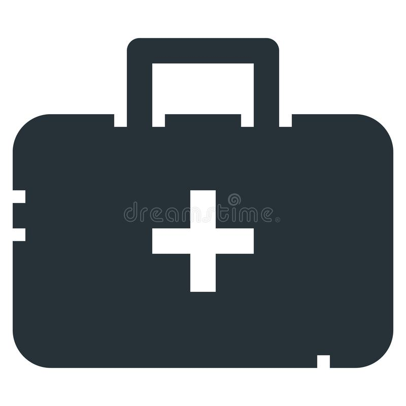 Medicine Case Vector Line Icon 32x32 Pixel Perfect. Editable 2 P. Ixel Stroke Weight. Medical Health Icon for Website Mobile App Presentation stock illustration