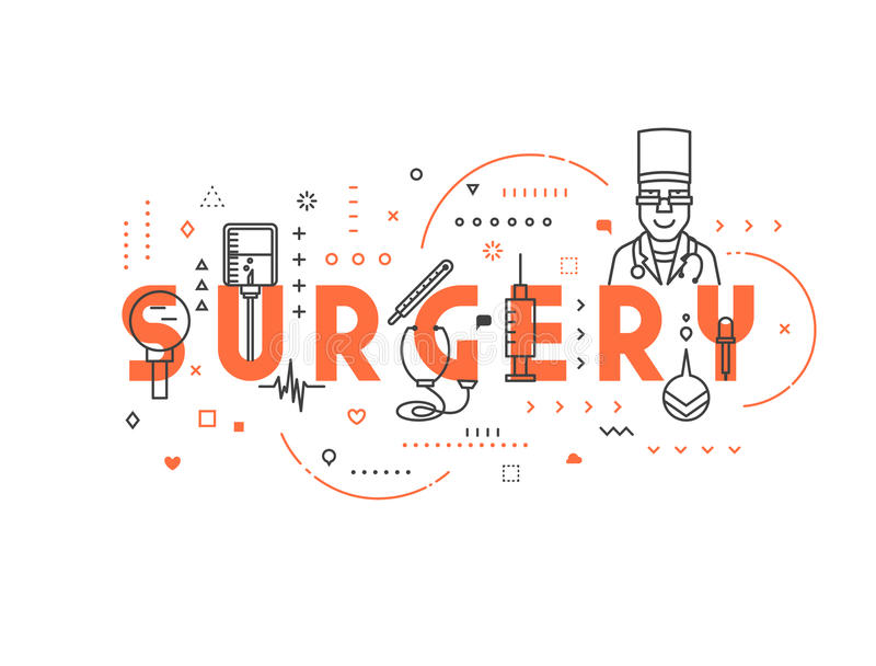 Medicine concept surgery stock illustration