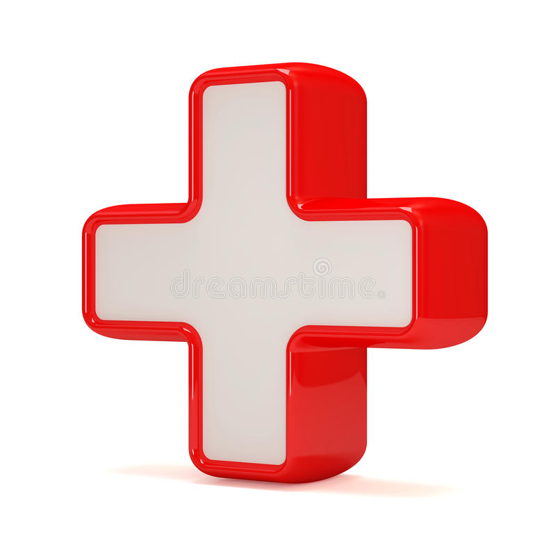 Download Medicine Cross On White Background Royalty Free Stock Photography - Image: 22658687