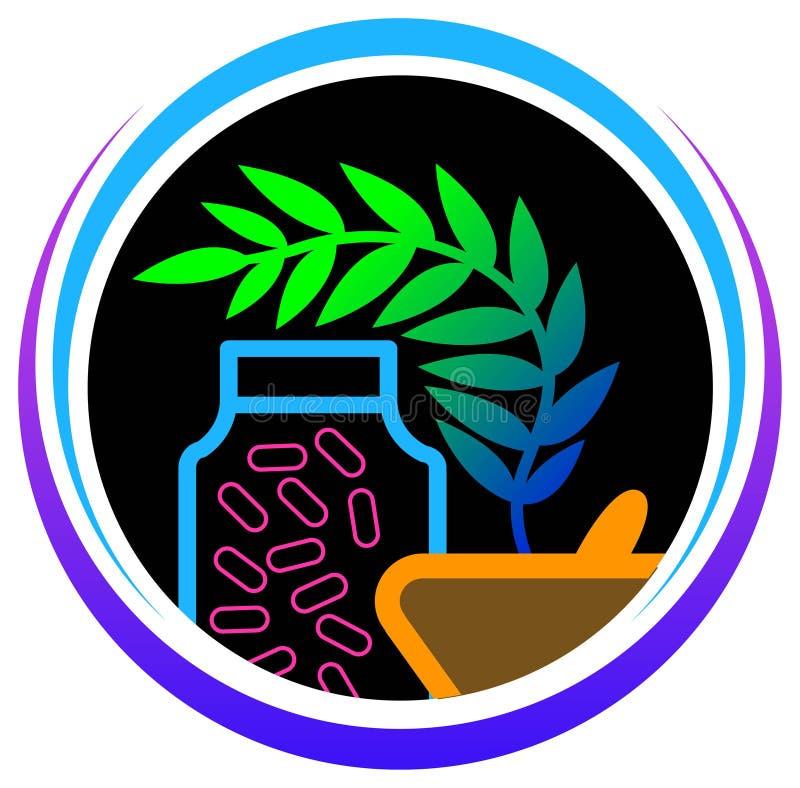 Medicine di erbe illustrazione vettoriale