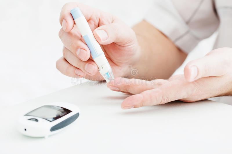 Medicine, diabetes, glycemia, health care and people concept royalty free stock images