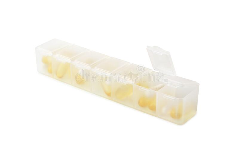 Medicine dose box isolated. On white background royalty free stock photo