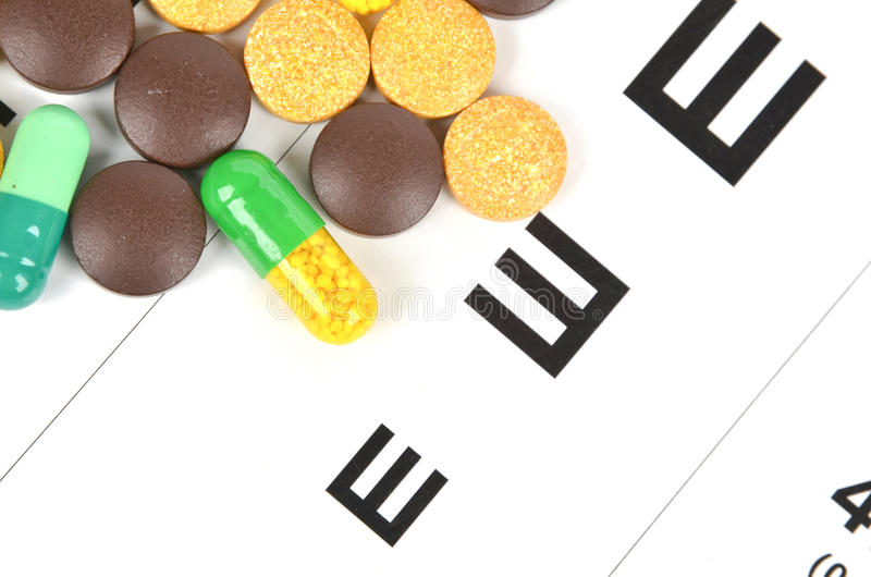 Download Medicine and eye chart stock photo. Image of diet, health - 25478892