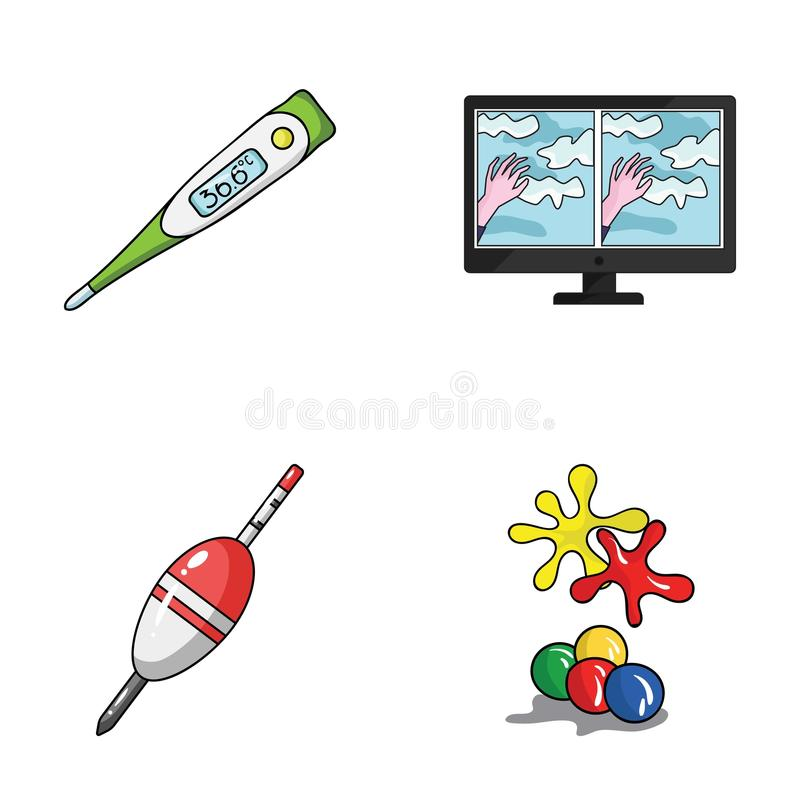 Medicine, fishing and other web icon in cartoon style.technology, paintball icons in set collection. Medicine, fishing and other icon in cartoon style vector illustration