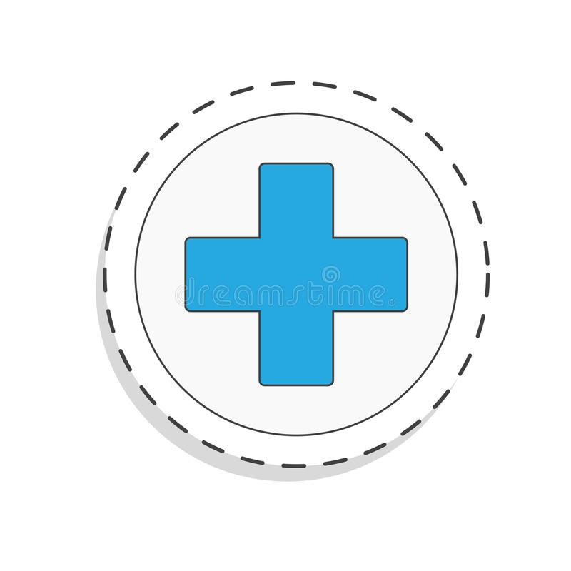 Medicine flat icon for design. Cross. World blood donor day. International holiday. donate blood and save life. Donation. Give love. Vector illustration stock illustration