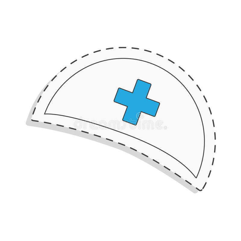 Medicine flat icon for design. Nurse cap. World blood donor day. International holiday. donate blood and save life. Donation give love. Vector illustration vector illustration