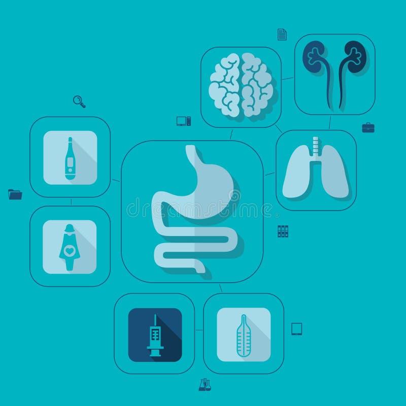 Medicine flat infographic vector illustration