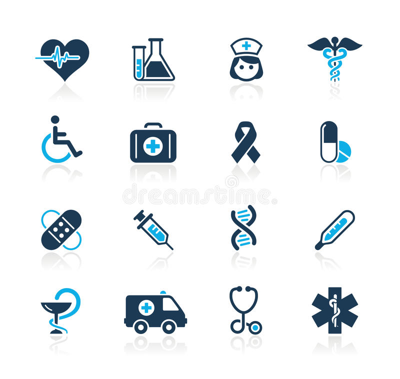Medicine & Heath care // Azure Series stock illustration