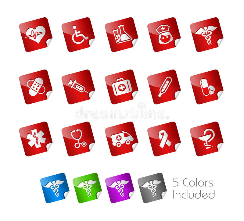 Download Medicine & Heath Care // Stickers Royalty Free Stock Photo - Image: 17929655