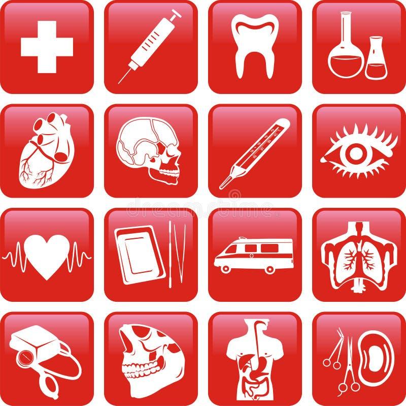 Download Medicine. Icons set. stock vector. Image of skull, cross - 8271375