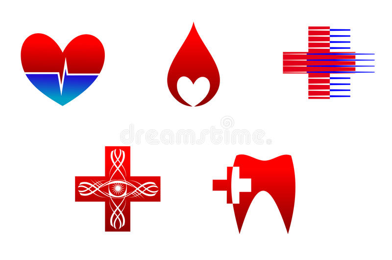Medicine icons and signs royalty free stock photo