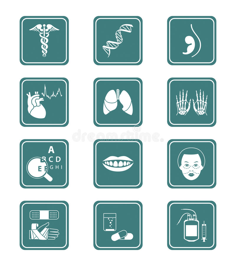 Medicine icons | TEAL series vector illustration