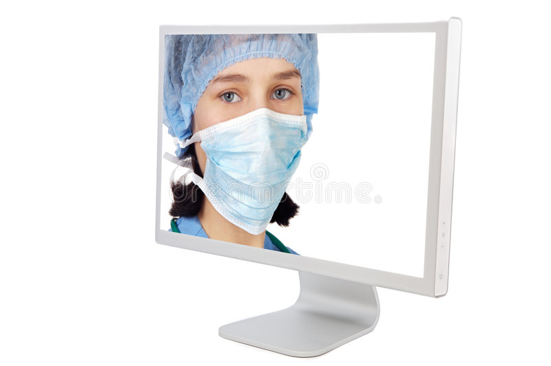 Medicine on line. A over white background