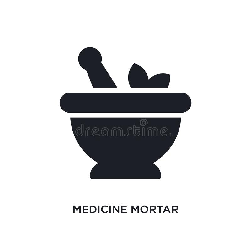 Medicine mortar isolated icon. simple element illustration from ultimate glyphicons concept icons. medicine mortar editable logo. Sign symbol design on white vector illustration