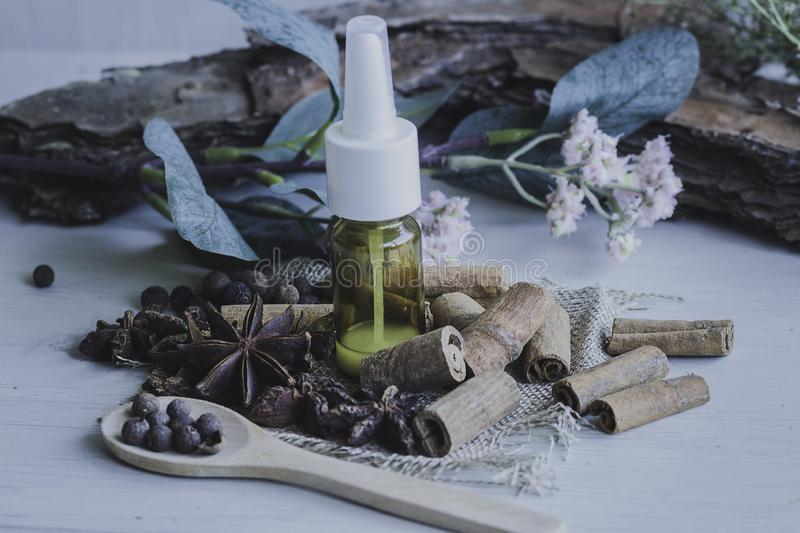 Medicine and natural cosmetics. stock photos