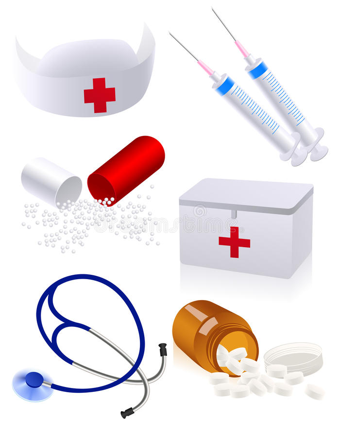Download Medicine objects stock vector. Image of first, pharmacy - 10138153