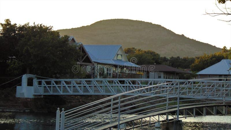 Medicine park view of bridges stock images