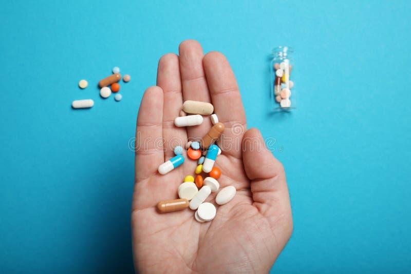 Medicine pills and drugs. Health pharmacy concept.  stock photos
