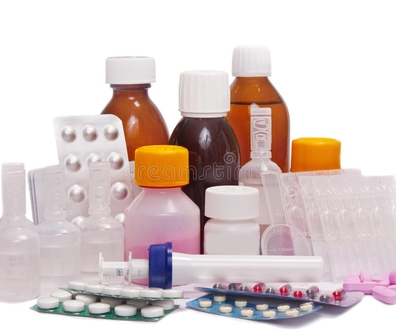 Medicine set stock image