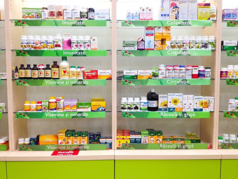 Medicine shelves stock image