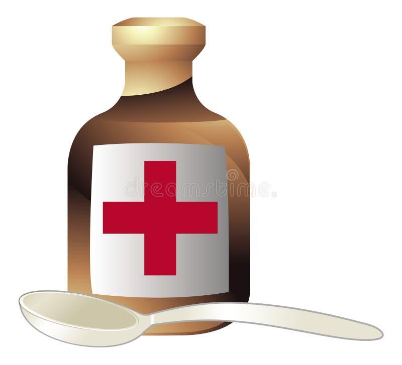 Medicine and spoon