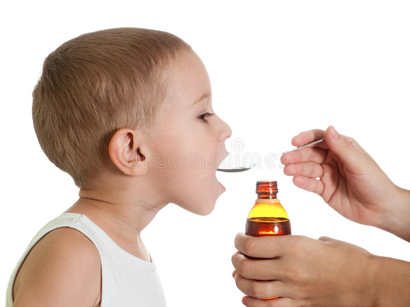 Medicine syrup royalty free stock image