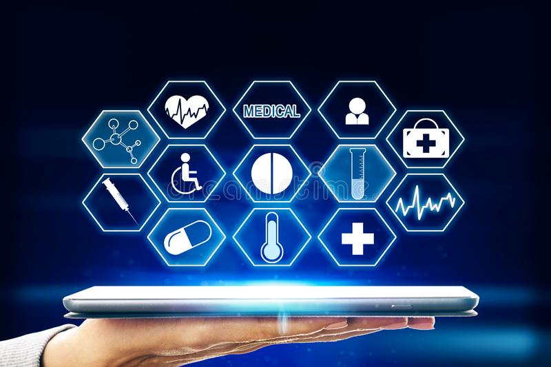Medicine and technology concept royalty free stock photos