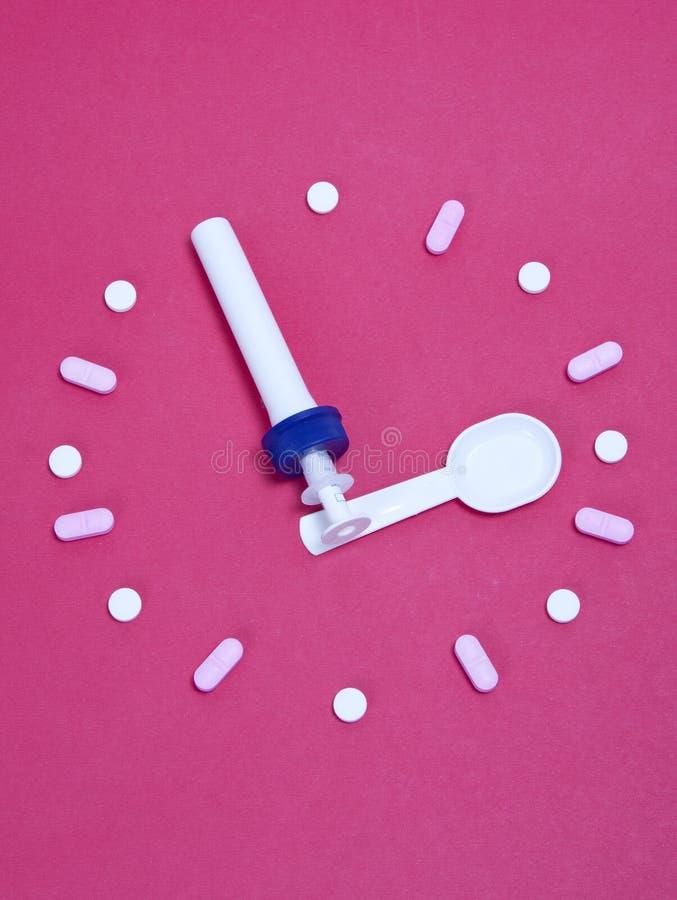 Medicine time stock image