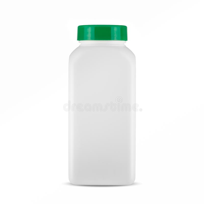 Medicine white pill bottle isolated on a white background royalty free stock photo