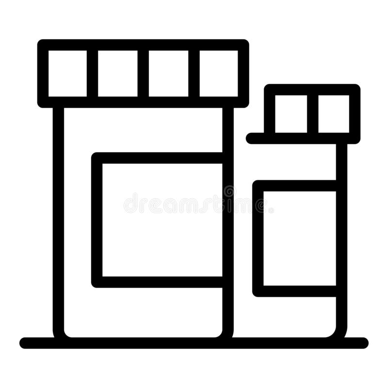 Medicines for animals icon, outline style stock illustration