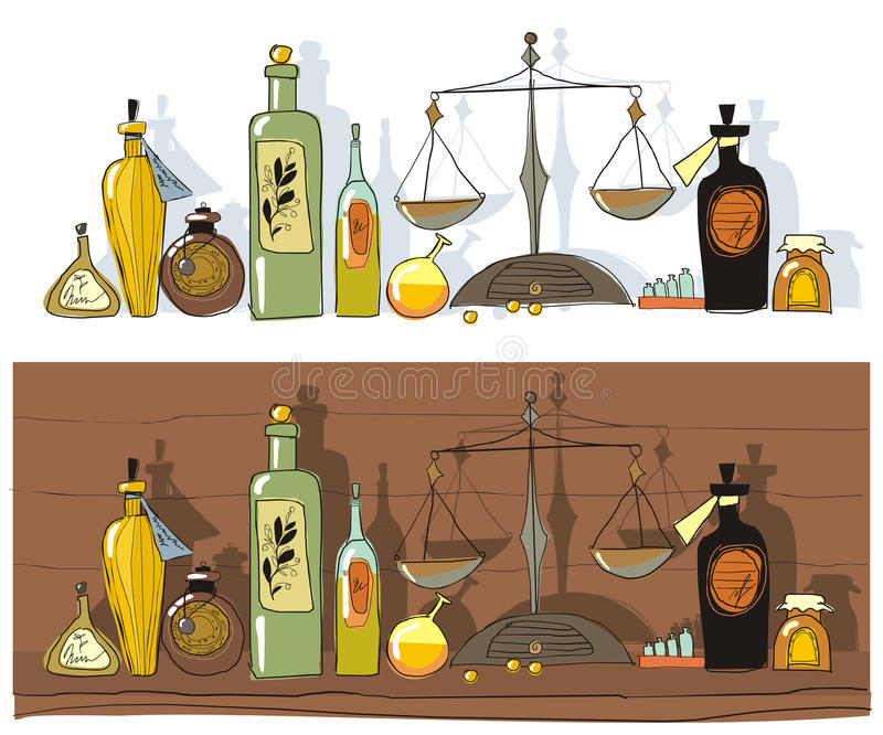 Download Medicines And Chemist's Scales Stock Vector - Image: 20387933