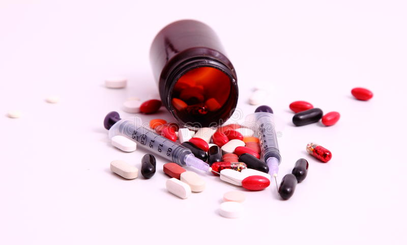 Download Medicines and syringes stock photo. Image of drugs, health - 41198654