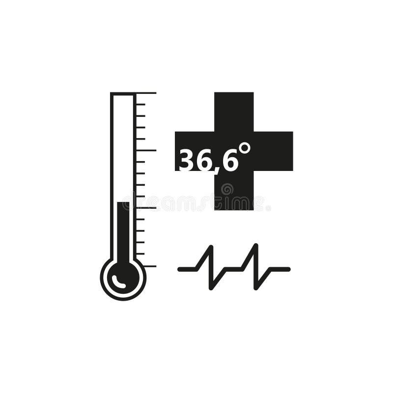 Medicinsk översiktssymbol för svartvit enkel vektor vektor illustrationer