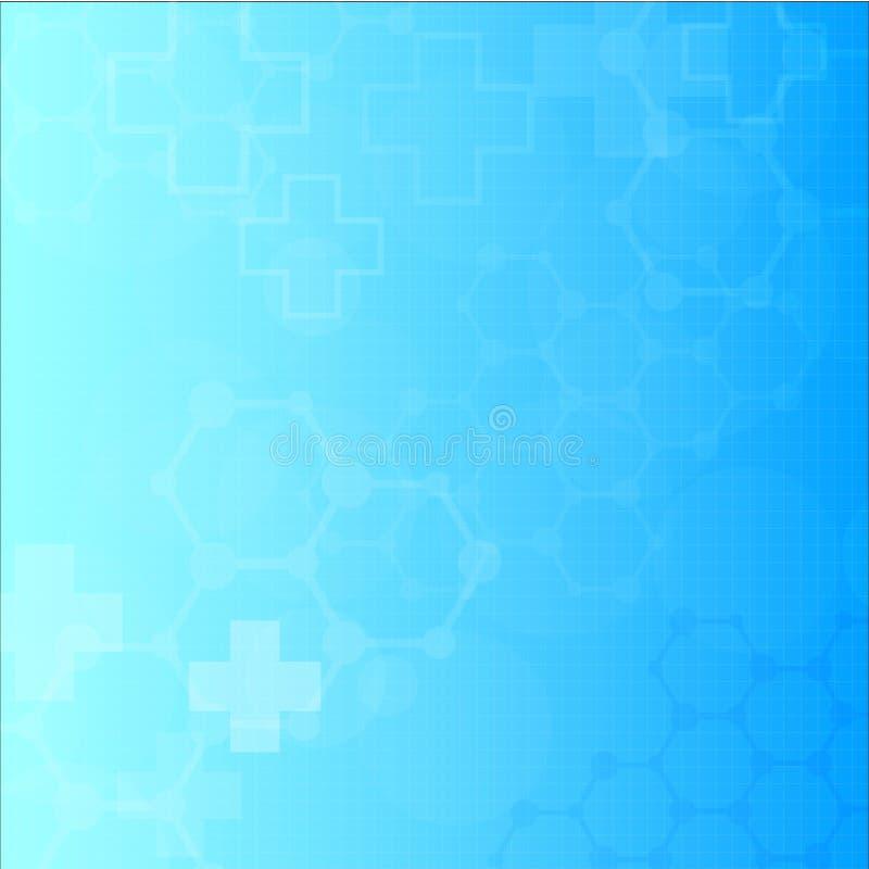 Abstrakt molekylläkarundersökningbakgrund stock illustrationer