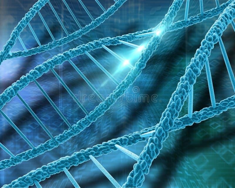 medicinsk bakgrund för DNA 3D stock illustrationer