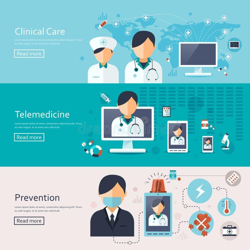 Medicinsk begreppsbaneruppsättning stock illustrationer