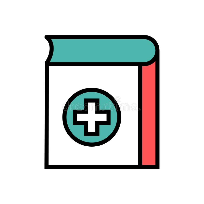Medicinsk boksymbol royaltyfri illustrationer