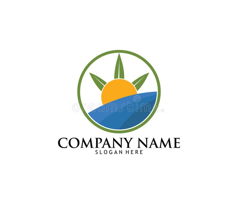 Medicinsk design för logo för laboratorium för apotek för marijuanacannabisdrog royaltyfri illustrationer