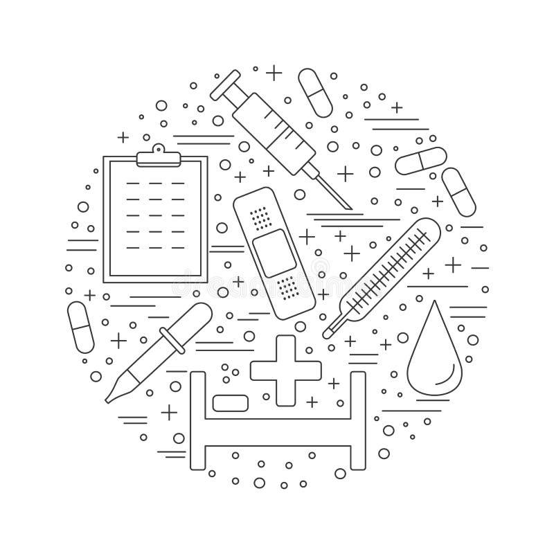 Download Medicinsk Diagnostik, Begrepp För Grafisk Design För Undersökning Vektor Illustrationer - Illustration av diagram, först: 76700941
